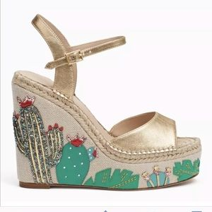 NWOB Kate Spade Dallas Cactus Platform Wedge
